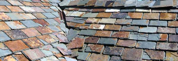 Bad roofing slates