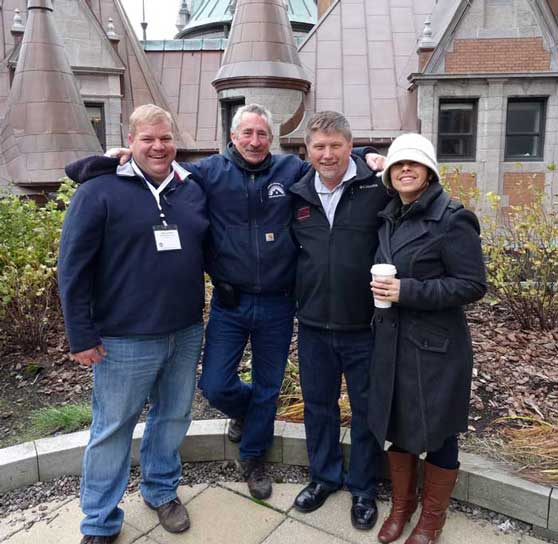 Slate Roofing Contractors Association Members at the National Slate Association Conference in Quebec City, October 2014